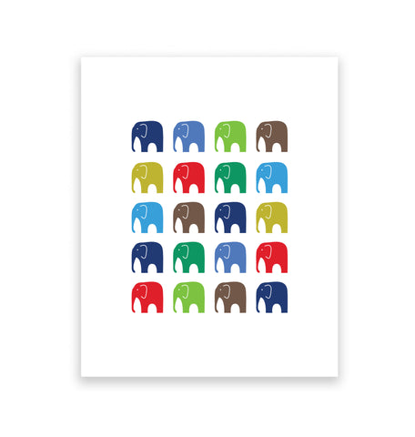 Marching Elephants 2 Art Print