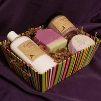 Striped Tray Gift Box - pick your products