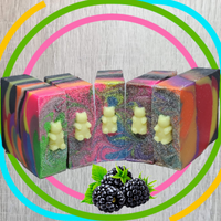 Psychedelic Gummy Bear Unfrosted Soap Bar (Black Raspberry Vanilla)