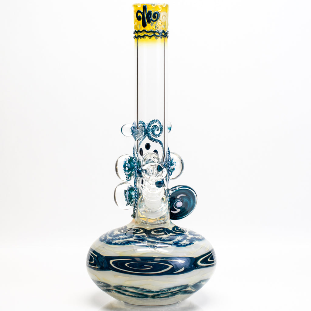 HVY Glass - Marble Tube - Blue Stardust