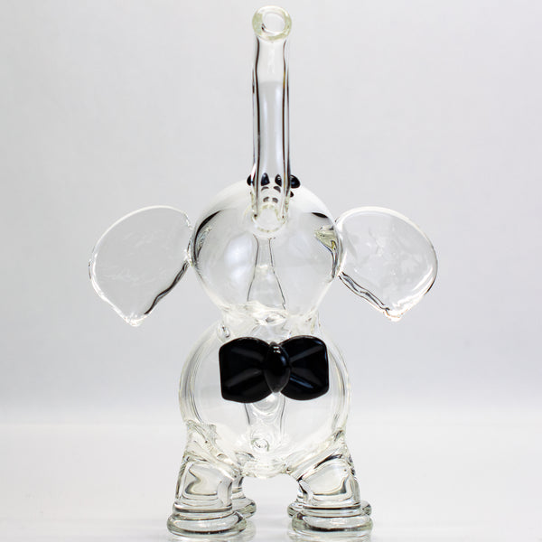 Flame Princess - 10mm Mini Elephant with Black Bow - Clear