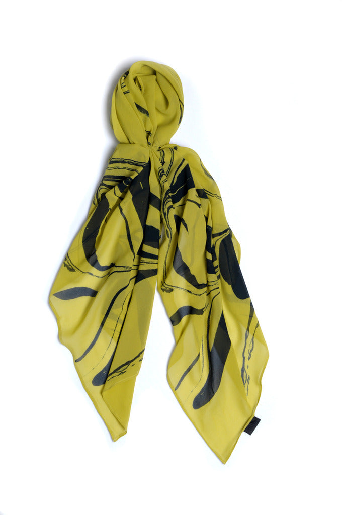 Oil & Water Silk Scarf