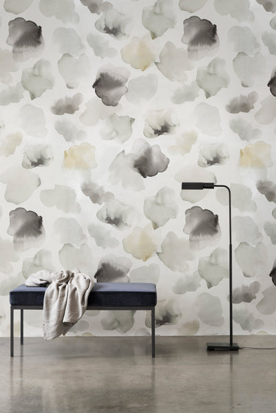 Petals Pressed Wallpaper - Sage