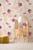 Petals Pressed Wallpaper - Blush