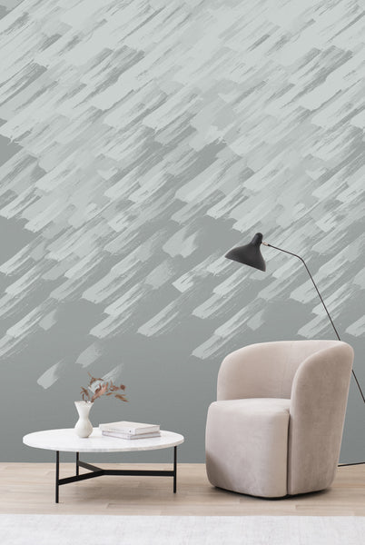 Brushstroke Wallpaper - silver