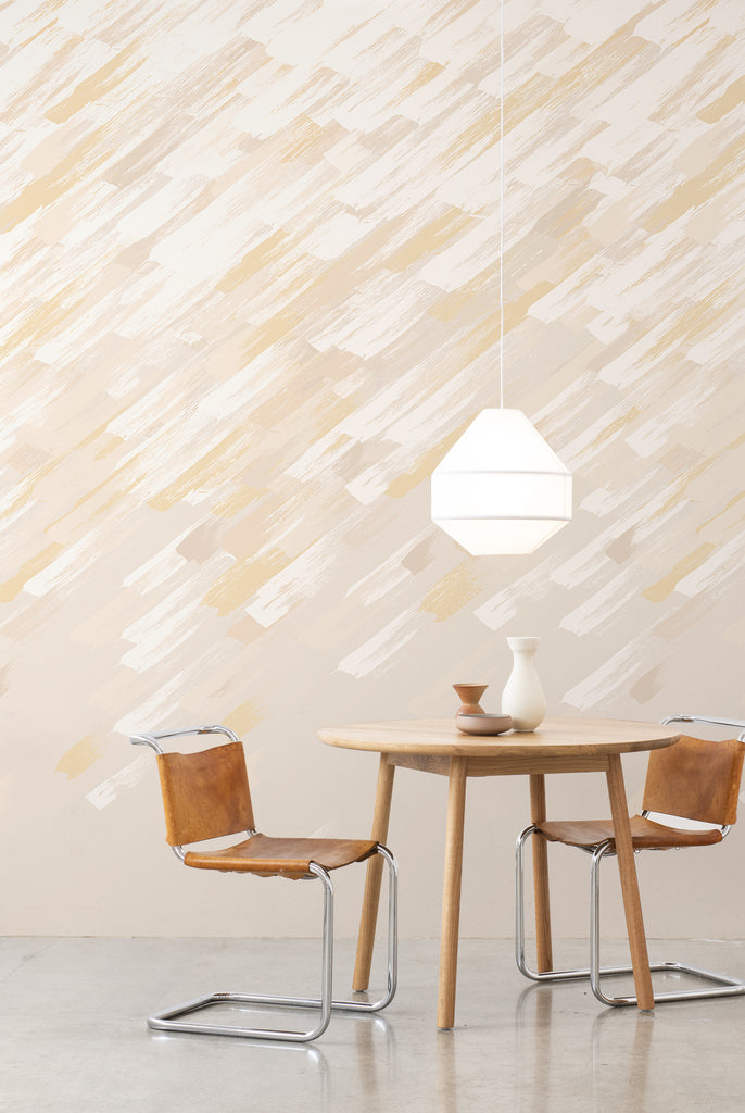 Brushstroke Wallpaper - Buff