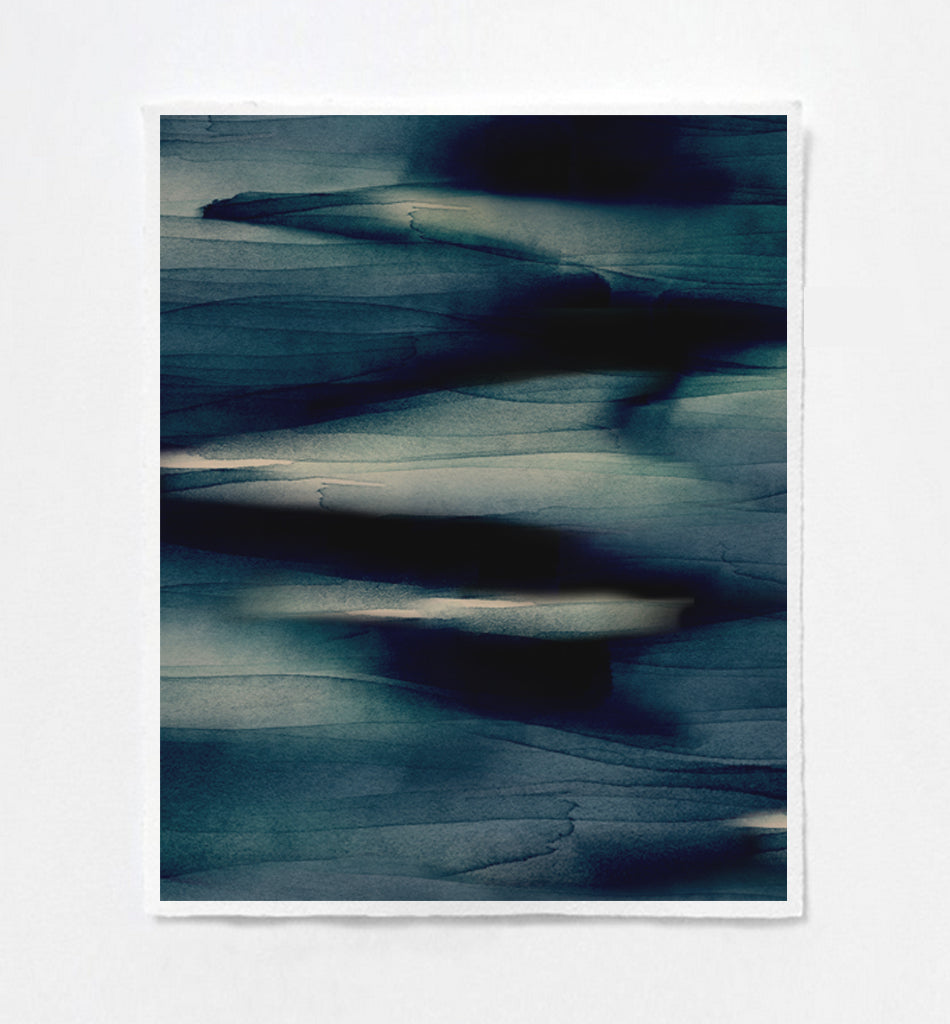 River Blue Art Print