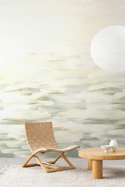 LA Colorscape Wallpaper - Desertscape Mural - Green