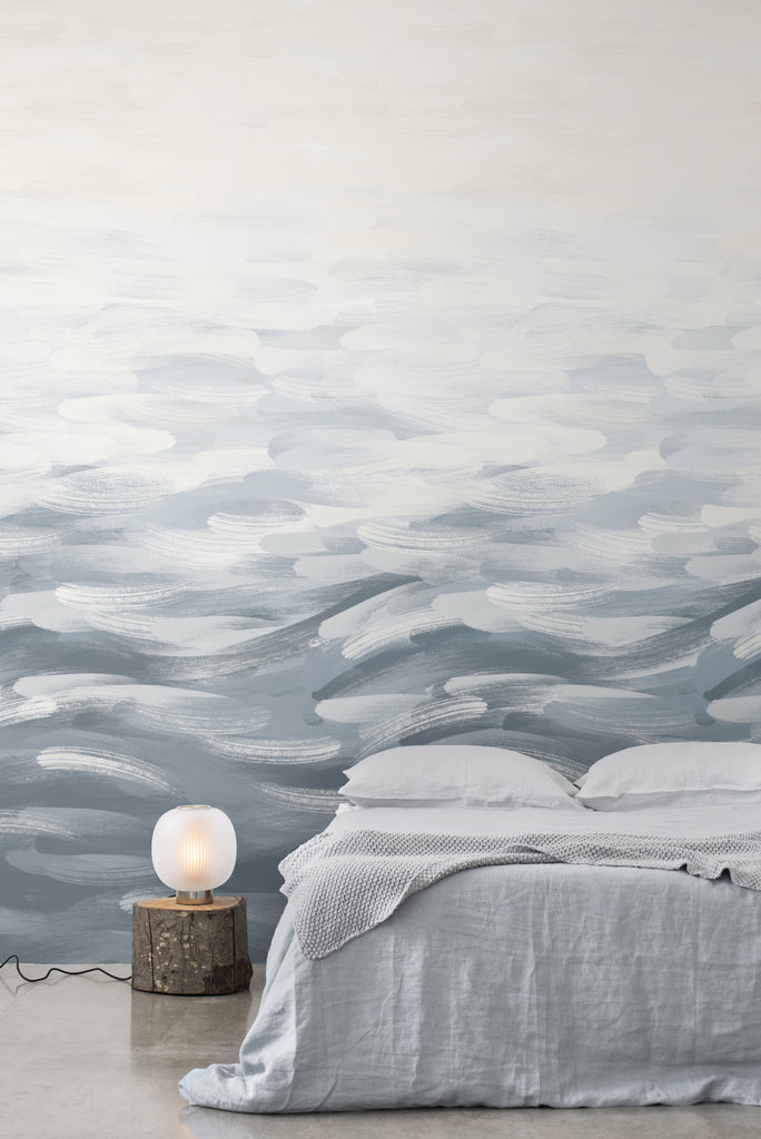 LA Colorscape Wallpaper - Seascape Mural - Steel