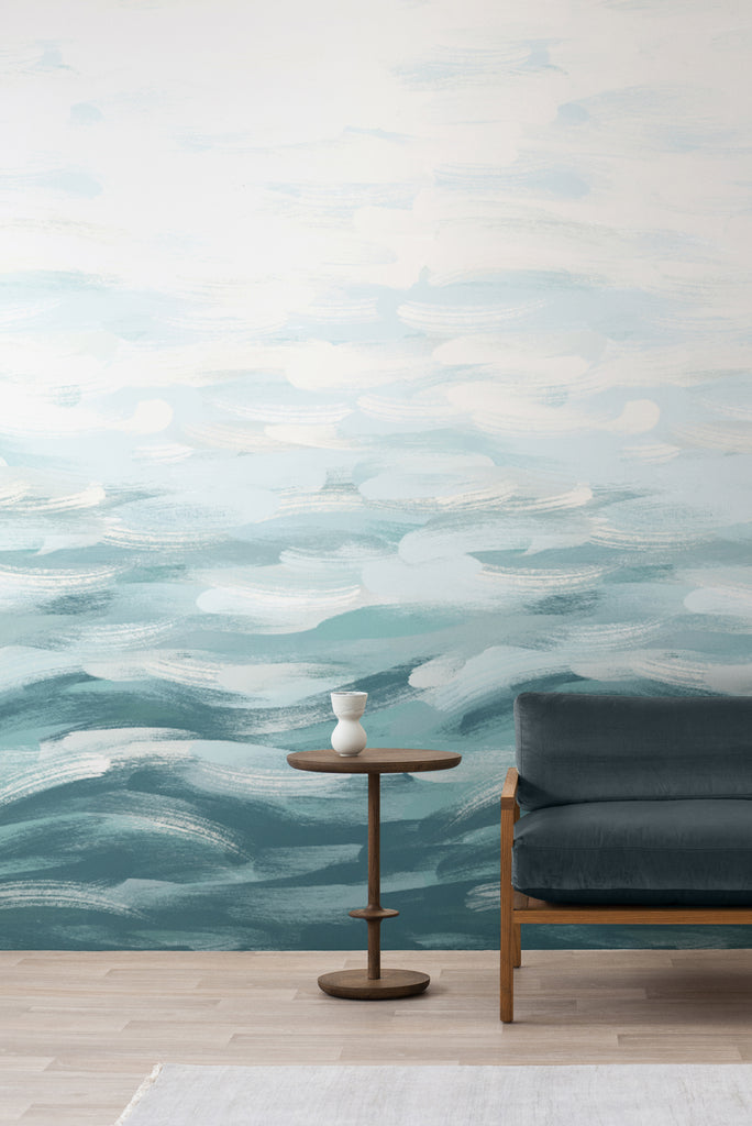 LA Colorscape Wallpaper - Seascape Mural - Turquoise