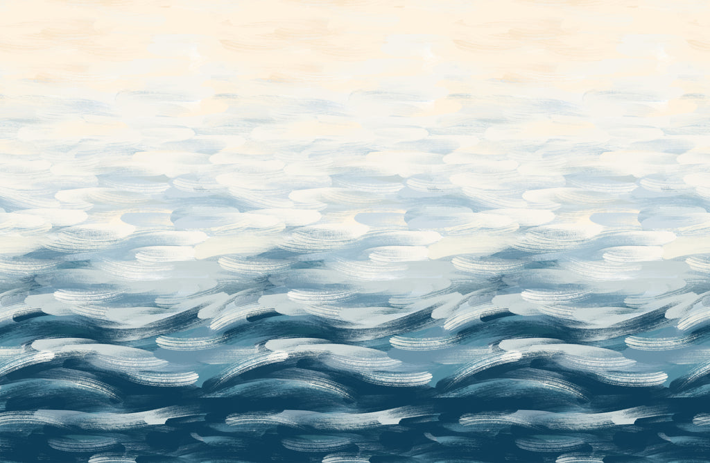 LA Colorscape Wallpaper - Seascape Mural - Blue