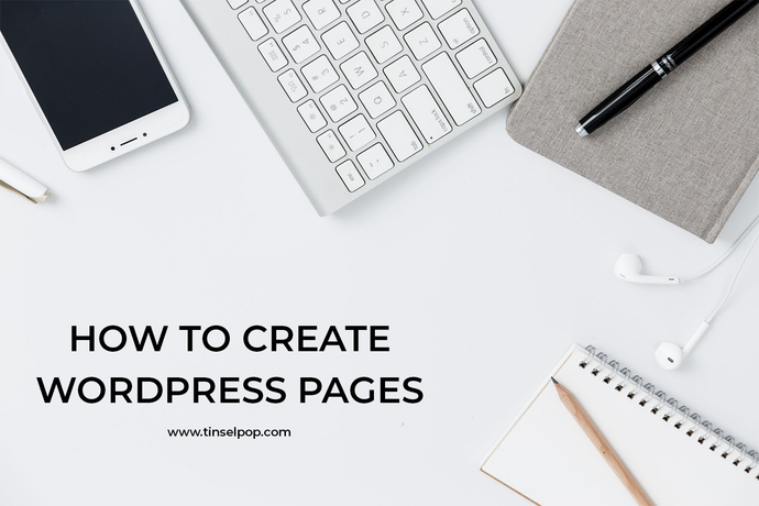 How to create wordpress pages
