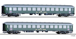 "Tillig 1761 TT Passenger coach set ""RTC military train 2"", consisting of two passenger coaches"