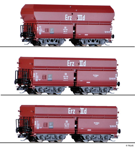 "Tillig 1766 TT Freight wagon set ""Erzzug 3"" of the DB"