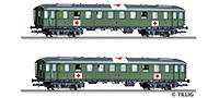 "Tillig 1812 01812 Passenger coach set ""Lazarettzug"" of the DRG with two passenger coaches, Ep. II"