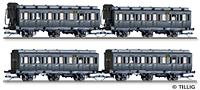 Tillig 1815 01815 Passenger coach set of the DRG with four passenger coaches, Ep. II