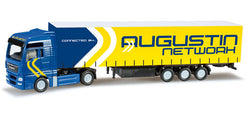 Herpa 066075 MAN TGX XXL curtain side trailer Augustin