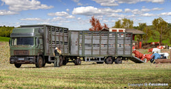 Kibri 12248 Cattle truck with trailer and 12 cows