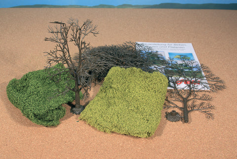 Heki 1974 Tree Kit & Leaf Foliage – 1675 & 1676 x5 Trunks & 10 Branches