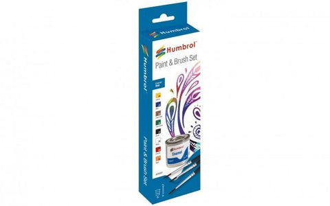 Enamel Paint and Brush Matt Set