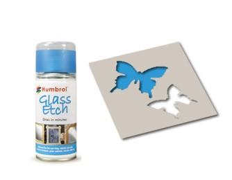 Glass Etch Blue 150ml Craft Spray
