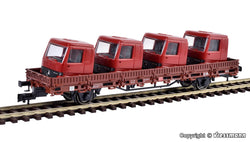 Kibri 26253 Low Sided Wagon With Truck Cabs Load