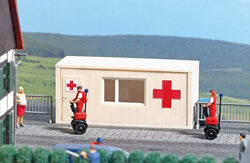 Busch 7869 Action Set: Ambulance Station with segways