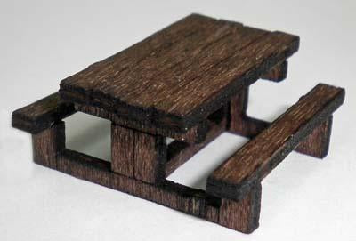Picnic Tables Kit OO Scale
