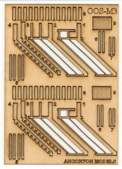 Signal Box Wooden Stairs with Handrails OO Scale