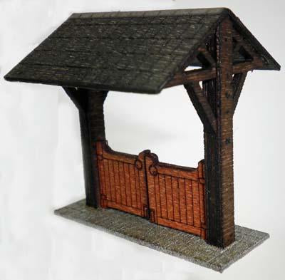 Church Lych Gate Kit OO Scale