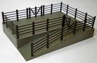 Lineside Cattle Dock Wood Kit OO Scale