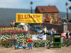 Busch 7714 Cut Own Flowers Scene