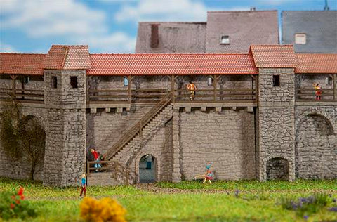 Faller 232353 City Wall With Stairs Kit