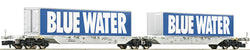 Fleischmann  825326 Aae Blue Water Double Container Wagon VI
