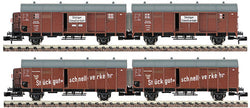Fleischmann  830682 Drg Sliding Door Wagon Set (Dcc Fitted)