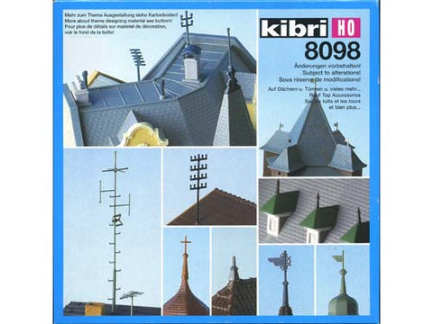 Kibri 38098 Roof Top Pieces/Decoration