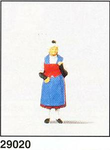 Preiser 29020 Woman In Swiss Costume