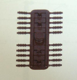 Sommerfeldt 167 40 X Insulators  Brown 1.9 X 6.0mm