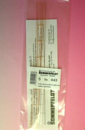 Sommerfeldt 443 Overhead Wire 0.4 X 200mm Open