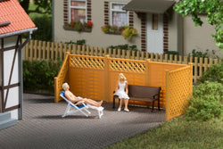 Auhagen 41648 Privacy fence with posts