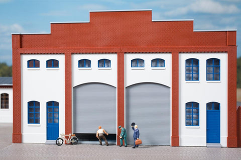 Auhagen 80729 OO/HO 2 Plastered walls, 2 roller doors and 2 gates