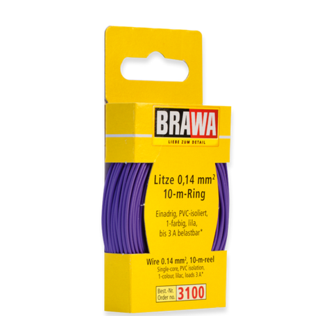 Brawa 3100 Wire 0 14 mm violett