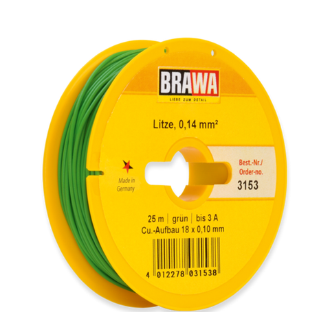 Brawa 3153 Wire 0 14 mm green
