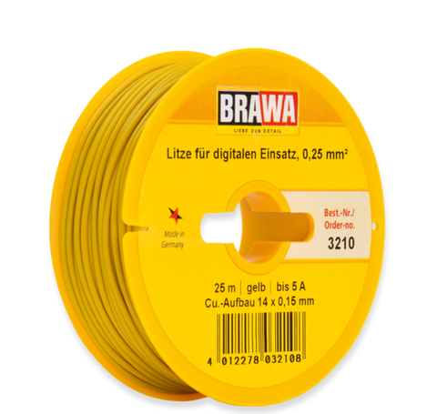 Brawa 3210 Switching-circuit Wire 0 25 mm yellow
