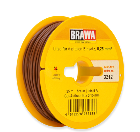 Brawa 3212 Switching-circuit Wire 0 25 mm brown