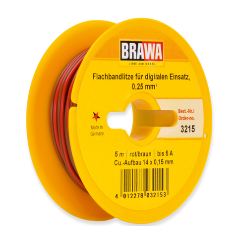 Brawa 3215 Flat Cable for Digital Use 0 25 mm