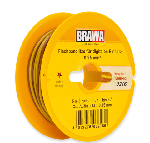 Brawa 3216 Flat Cable for Digital Use 0 25 mm