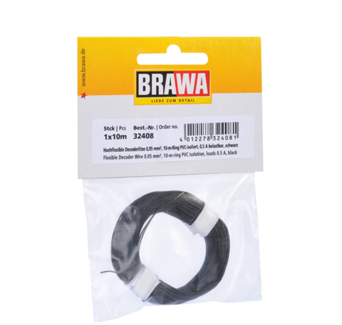 Brawa 32408 Flexible Decoder Wire 0 05 mm black