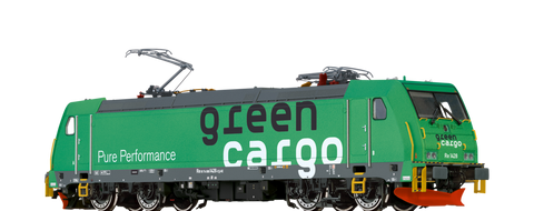 Brawa 43966 TRAXX Electric Locomotive Re1428 Green Cargo DC Analogue BASIC
