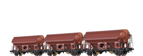 Brawa 49510 Covered Freight Cars Tdgs 930 DB set of 3